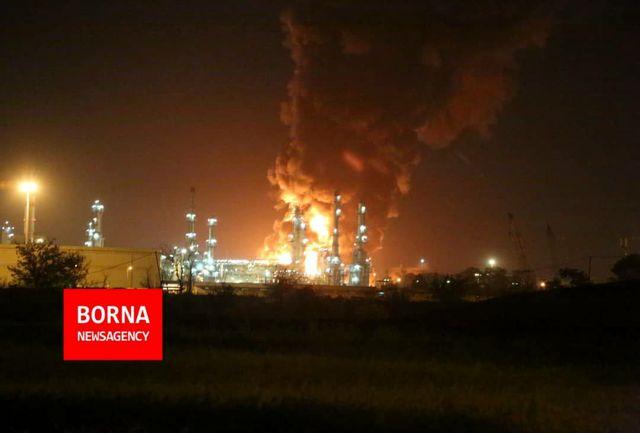 آخرین تصاویر از آتش سوزی پالایشگاه تهران