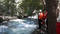۵ خانواده گرفتار شده در رودخانه کرج نجات یافتند