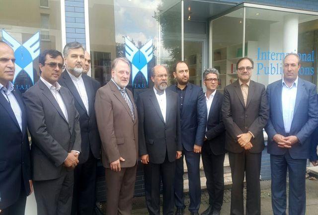 افتتاح دفتر و مرکز بین المللی انتشارات دانشگاه آزاد اسلامی در شهر اسن آلمان