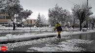 آسمان اصفهان برفی شد