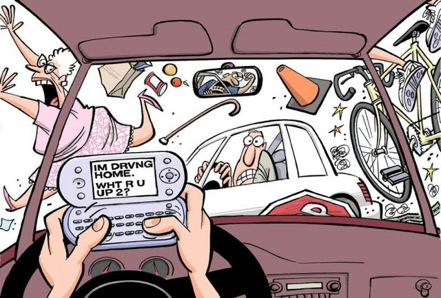 احمقانهترین حواسپرتیها هنگام رانندگی چیست؟