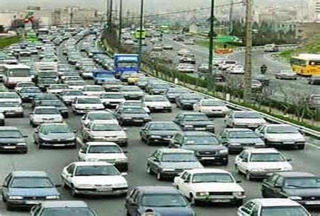 ترافیک نیمه سنگین در محور کرج -تهران