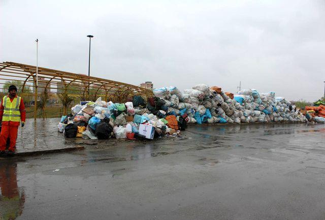 پلمب انبارهای موقت نگهداری مواد بازیافتی غیرمجاز