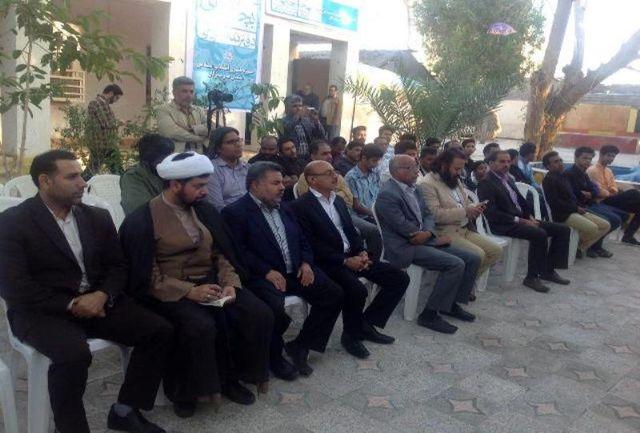 دفتر تئاتر مردمی «بچه های مسجد» در میناب افتتاح شد