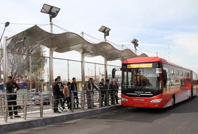 خدمات اتوبوس های مسیر BRT روز اول مهر رایگان است