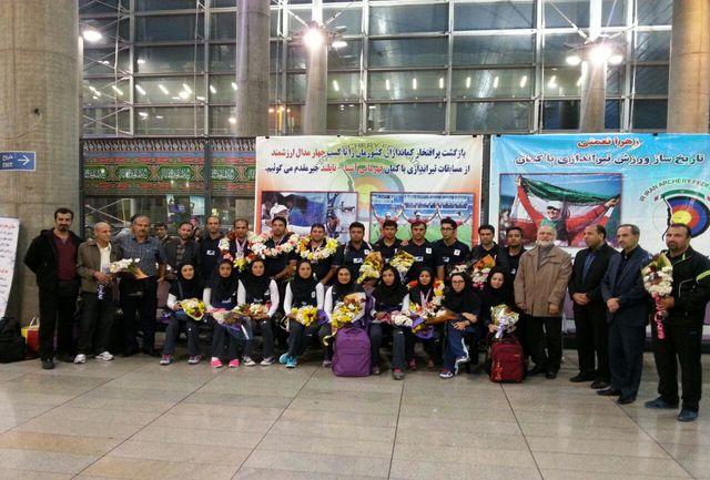 تیم ملی تیروکمان بامداد امروز وارد تهران شد