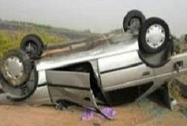۳ کشته و زخمی در حادثه واژگونی پژو ۴۰۵ در محور یاسوج-سی سخت
