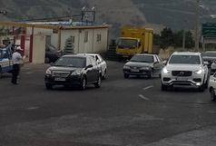 ترافیک سنگین در جاده فشم - لواسان و گردنه قوچک