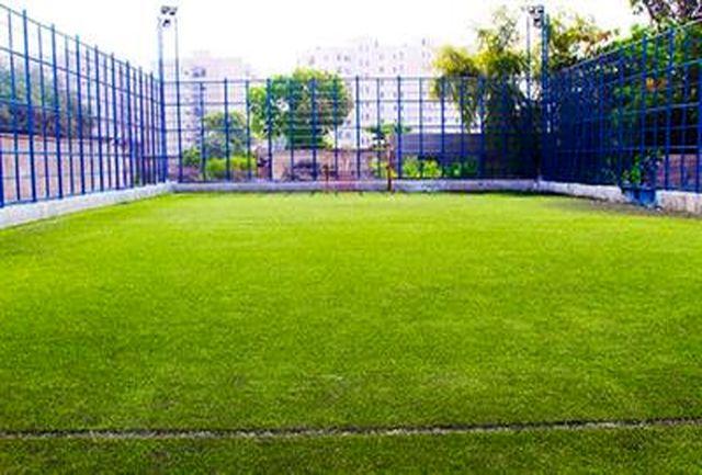 بهرهبرداری از یک زمین ورزشی و دو فضای سبز محلهای