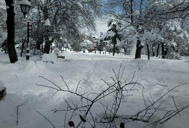 دامن سپید برف بر تن برخی کوهستان های گیلان
