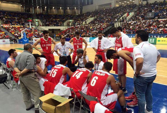 شکست تیم ملی بسکتبال ایران برابر عراق