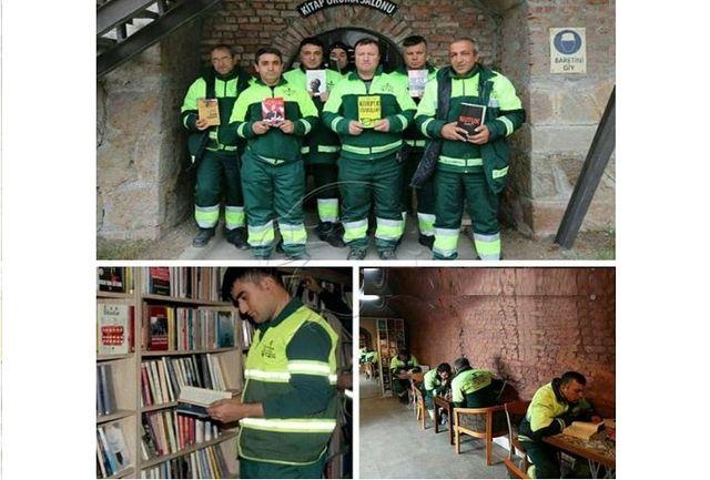راه اندازی کتابخانه توسط کارگران ترک