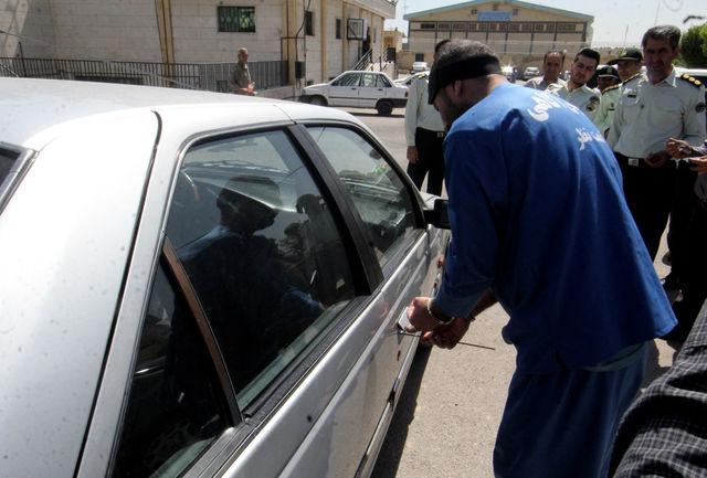 20فقره سرقت در پرونده سارق درون خودرو