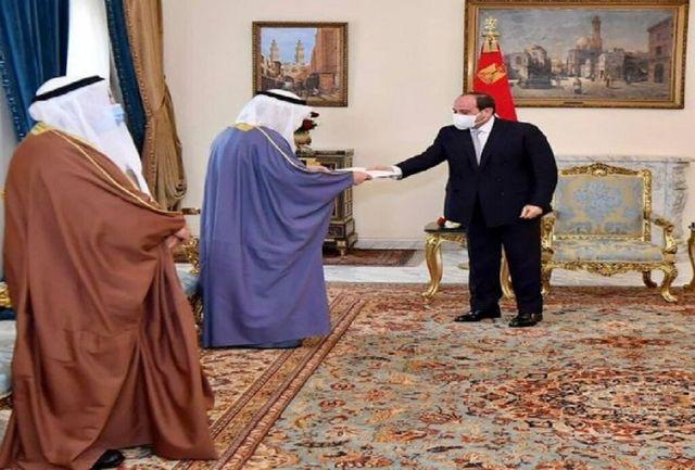 نامه امیر کویت به رئیس جمهور مصر
