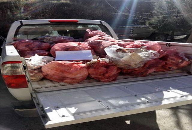 معدومسازی 69 تن گوشت غیربهداشتی در همدان