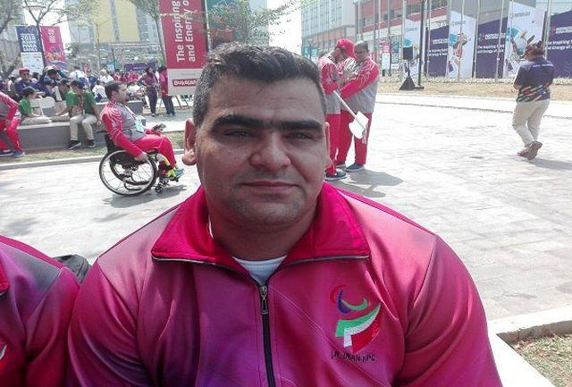 """""""سجادمحمدیان"""" مدال طلای خود را به شهدای حادثه تروریستی اهواز تقدیم کرد؛ قهرمان لرستانی پرتاب وزنه بازیهای پاراآسیایی جاکارتا: بهترین رکورد ورزشیام را به ثبت رساندم/قصد دارم سهمیه پارالمپیک توکیو را کسب کنم"""
