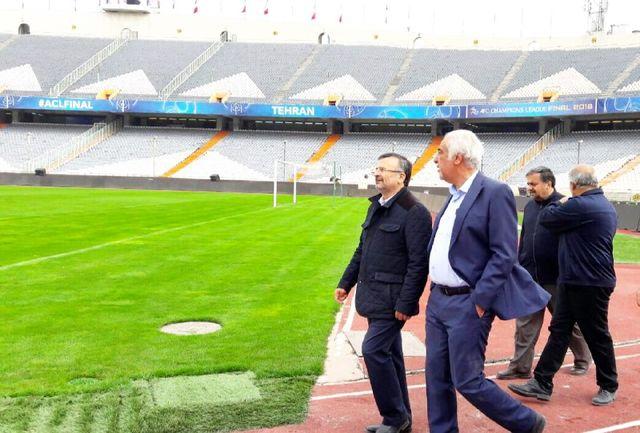 بازدید معاون ورزش قهرمانی وزارت ورزش و جوانان از ورزشگاه آزادی