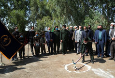 کلنگ ساخت مدرسه روستای چشمه شور به همت سپاه قم به زمین خورد