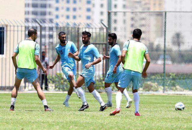 تمرین تیم ملی فوتبال ایران بعد از شکست هنگ کنگ برگزار شد