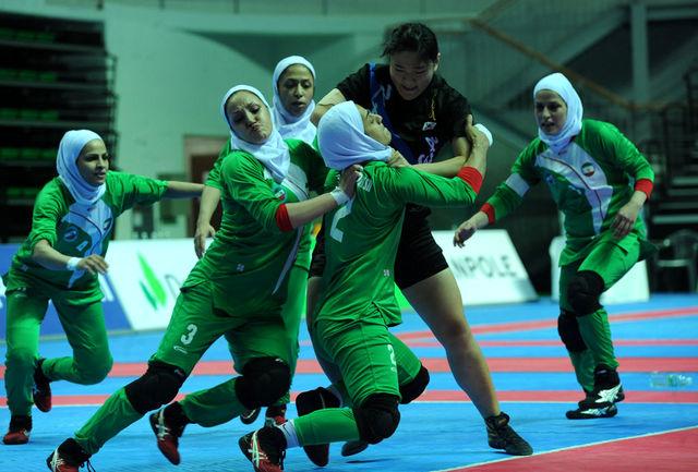 دختران کبدی کار اصفهانی جام قهرمانی را بالای سر بردند
