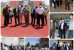 برگزاری جلسه هماهنگی مسابقه فوتبال پرسپولیس و پیکان در ورزشگاه شهدای شهرقدس