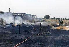 مهار آتش سوزی در محل دپوی مواد ضایعاتی در شهر قدس