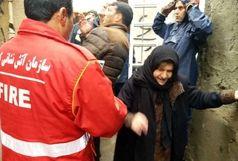 نجات پنج شهروند کرمانشاهی قبل از فرو ریختن دیوار منزلشان