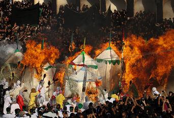 مراسم روز عاشورای حسینی در اشکذر- یزد