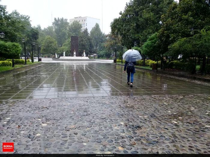 احتمال باران و رعد و برق در تهران