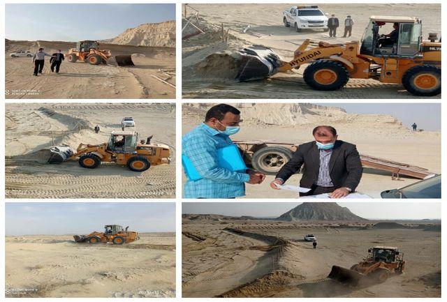 61.9هزار مترمربع اراضی خالصه دولتی به ارزش 30.9 میلیارد ریال در شهر سوزا قشم رفع تصرف شد