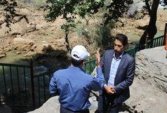 ریزش بخشی از تاج آبشار بیشه / ریزش تلفات جانی نداشته است
