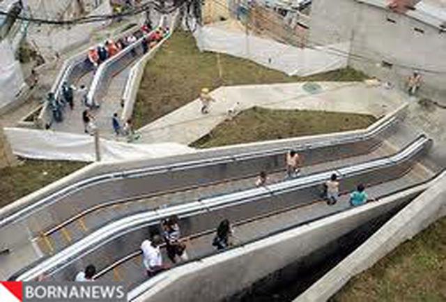 احداث بلندترین پله برقی فضای باز جهان در کلمبیا + تصاویر