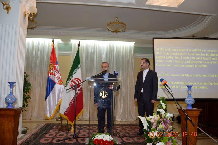 تاکید بر گفتگوی فراگیر و جامع درون منطقه ای در مراسم روز ملی ایران در صربستان