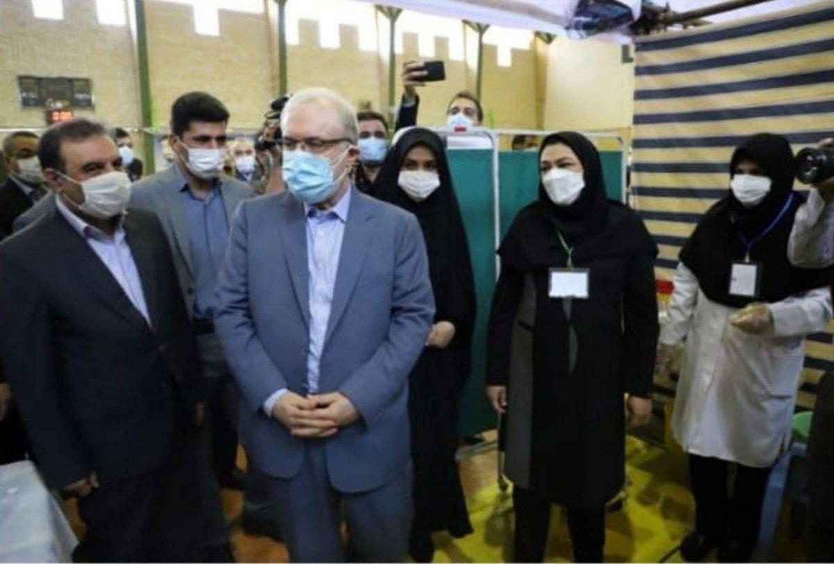 بازدید وزیربهداشت از مرکز تجمیعی واکسیناسیون کرونا در خرم آباد