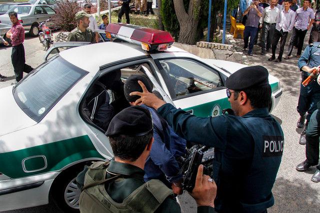 تعقیب و گریز پلیس و سارق خودرو در خیابان های تهران + فیلم