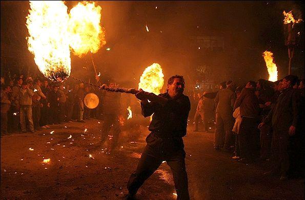 آداب و رسوم و مراسم مشعلگردانی (پولکه تولاماخ)  در آذربایجان شرقی