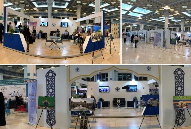 مشاوره قرآنی و مشاور پزشکی به بازدید کنندگان و حاضران در غرفه وزارت ورزش و جوانان