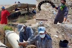 اتمام عملیات تعویض  Gasket در اسکله نفتی شهید رجایی