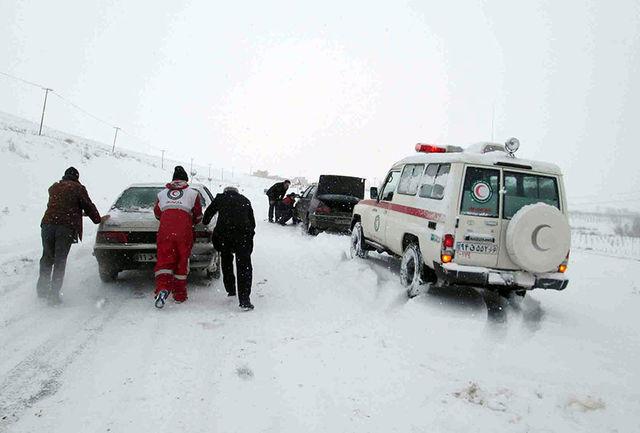 امدادرسانی به ۷۵ در راه مانده برف و کولاک در 24 ساعت گذشته