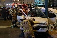 ۴ کشته و مصدوم بر اثر برخورد وحشتناک پژو پارس با تیرک برق سه راه خرمشهر