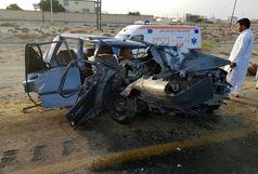 3 کشته ومجروح درتصادف شدید دو خودرو پراید محور جنوب سیستان وبلوچستان