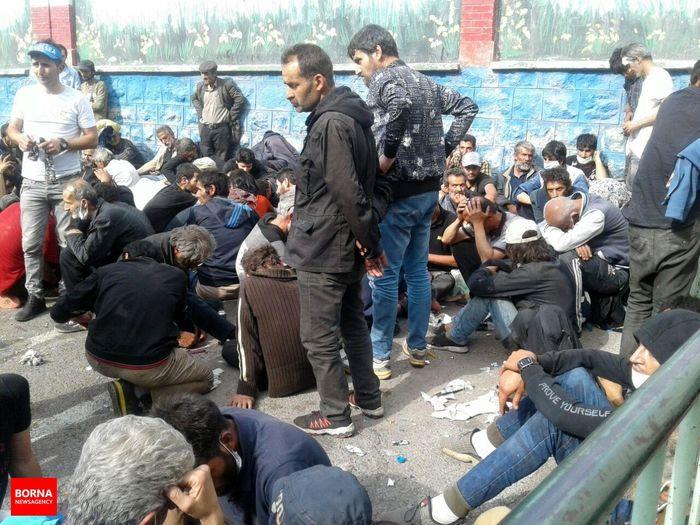 دستگیری 171خرده فروش و جمع آوری 515 معتاد متجاهر در تهران