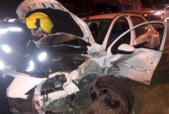 برخورد پنج دستگاه خودرو در میدان بسیج تبریز+ببینید