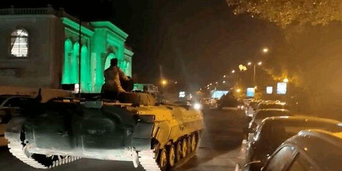 ورود تانک های ارتش به خیابان های بغداد