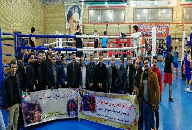 مشکلات ورزش بوکس آجا در حضور  رئیس بوکس ارتش جمهوری اسلامی ایران بررسی شد