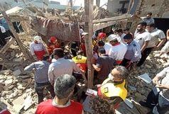 انفجار مهیب گاز در پاکدشت/ دو ساختمان تخریب شدند/ ۸ نفر زیر آوار مدفون هستند