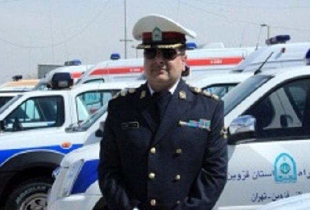 رئیس پلیسراه استان قزوین: یک کشته و 2 مصدوم در واژگونی خودروی پراید در تاکستان