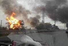آخرین وضعیت حادثه انفجار خط لوله گاز برومی اهواز/ وخامت حال یکی از مصدومان+فیلم