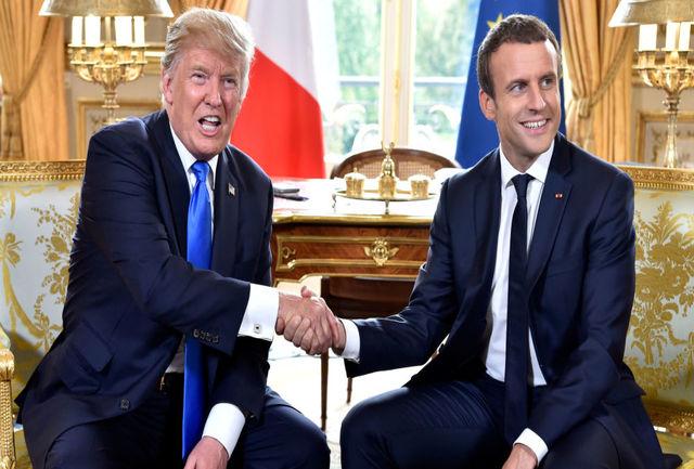 فیلم لحظه ورود دونالد ترامپ به کاخ الیزه/ ببینید