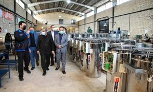 استاندار قزوین از شرکت صنعت تهویه زاگرس بازدید کرد